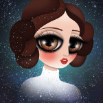 Hommage à Leia, Tribute to Princess Leia – Douce candeur – illustrations 2016-2018